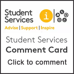 click to complete the student services comment card